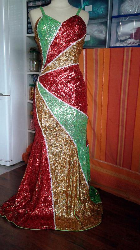 robe pour chanteuse paillette