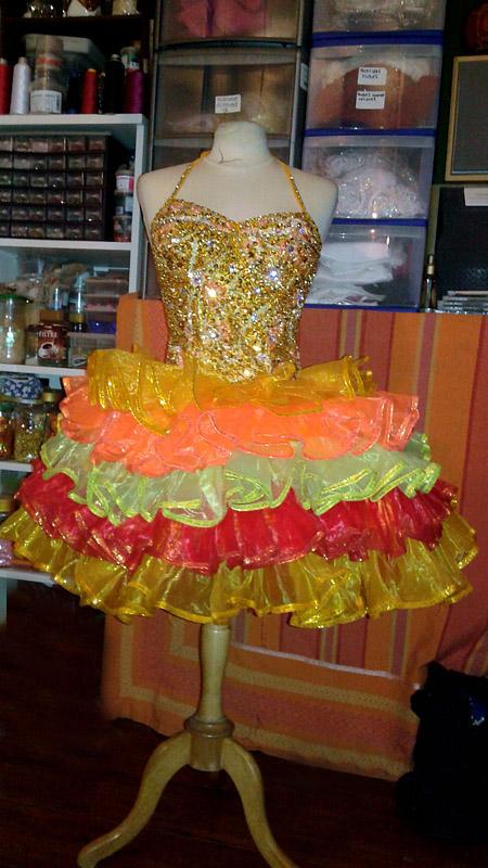 dress multicolor lido de paris