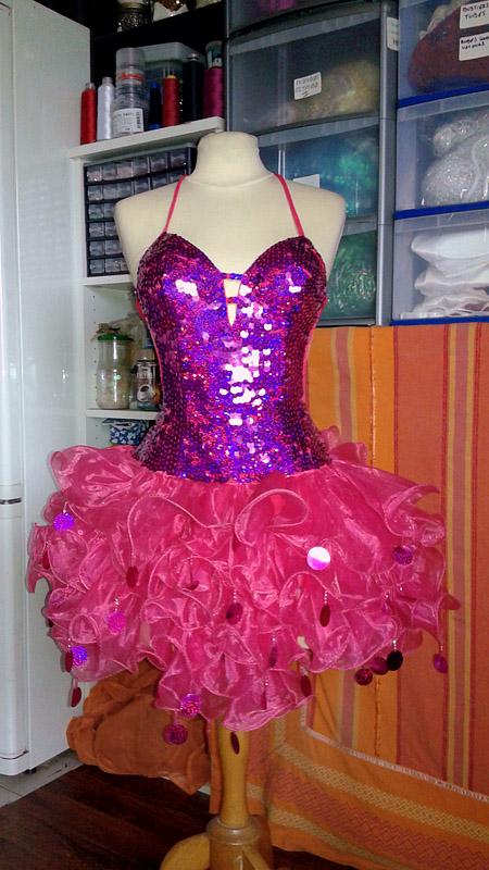 robe organza burlesque - spectacle cabaret