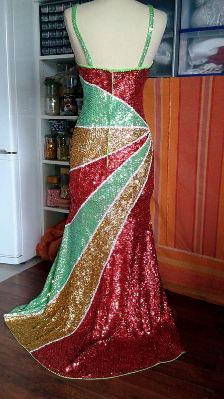 robe longue paillettées