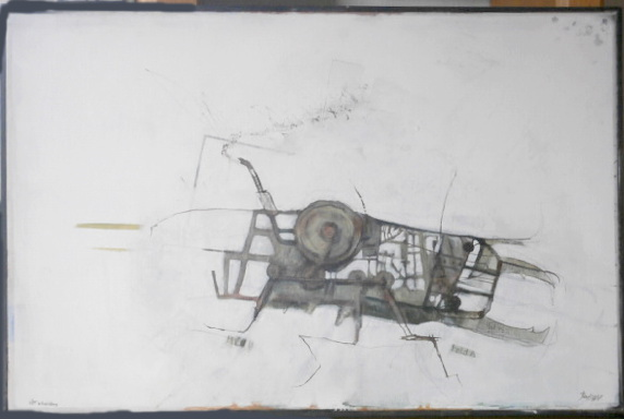 Käfer in Windrichtung (Eitempera, Öl, Leinwand)   -  verkauft
