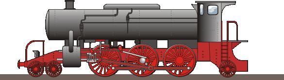 Schnellzug-D-Lok. Vektorgrafik 2014
