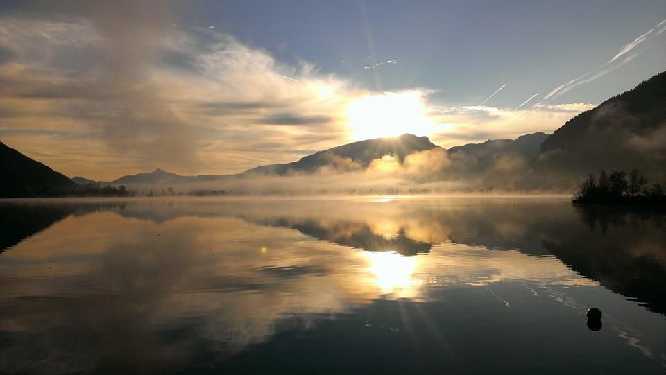 Coaching am Walchsee im Sonnenaufgang