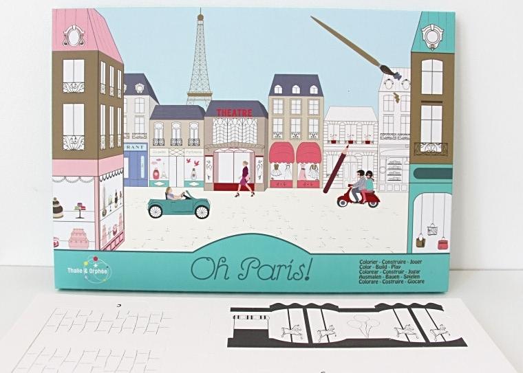 boîte de coloriage Oh Paris