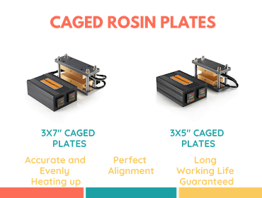 caged rosin press plates kit