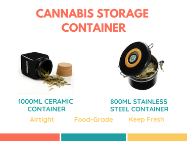 cannabis container airtight canister