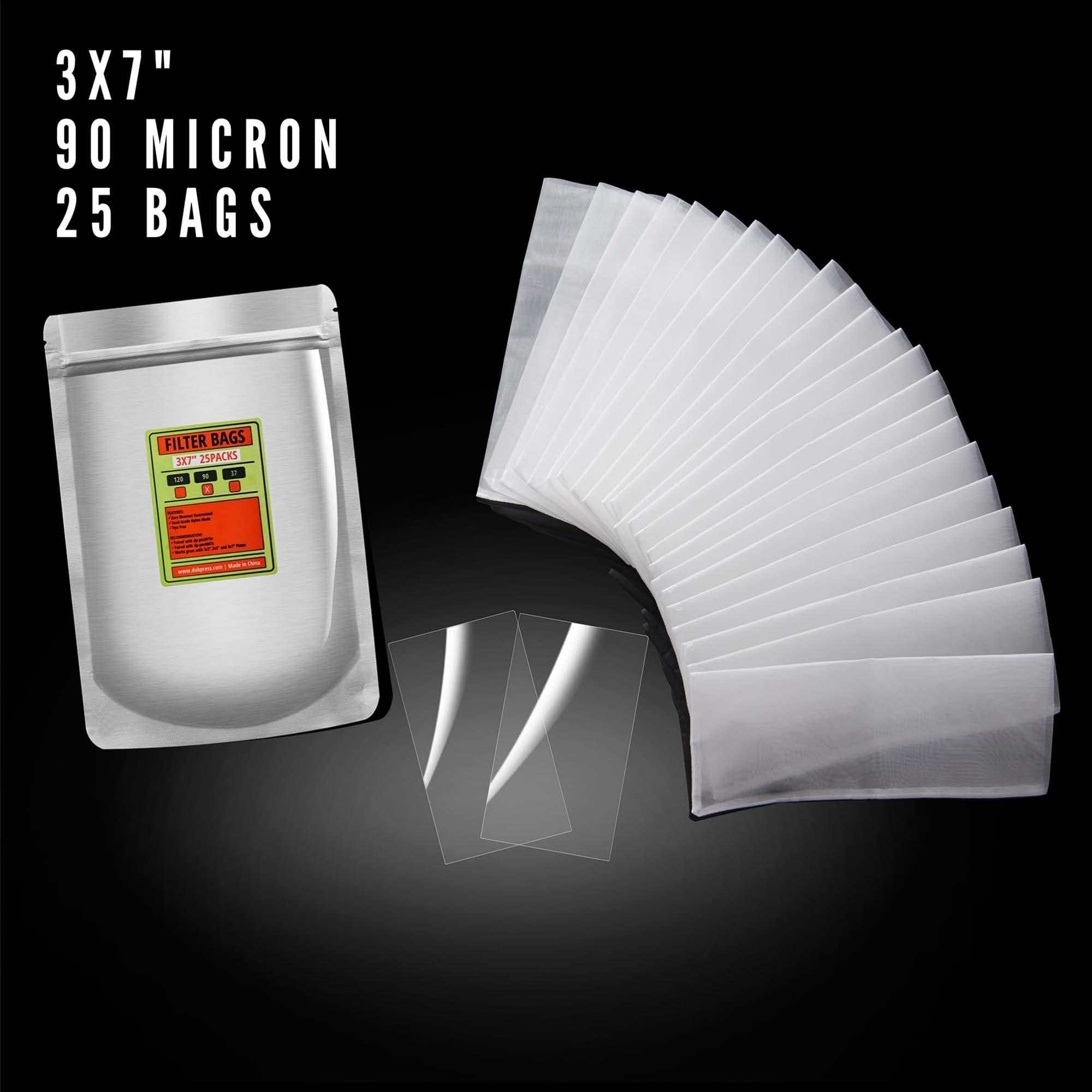 90 Micron | 3x7 Rosin Press Bags