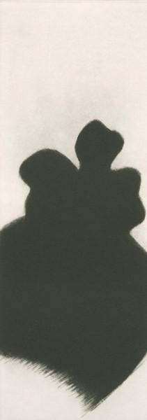 Eliana Bürgin-Lavagetti | Formen Funde 2003/2004. Mezzotinto. Kupferplattenformat 8 x 21,5 cm, Blattgrösse 23 x 38 cm, Zerkall Bütten, 250 g/m2.