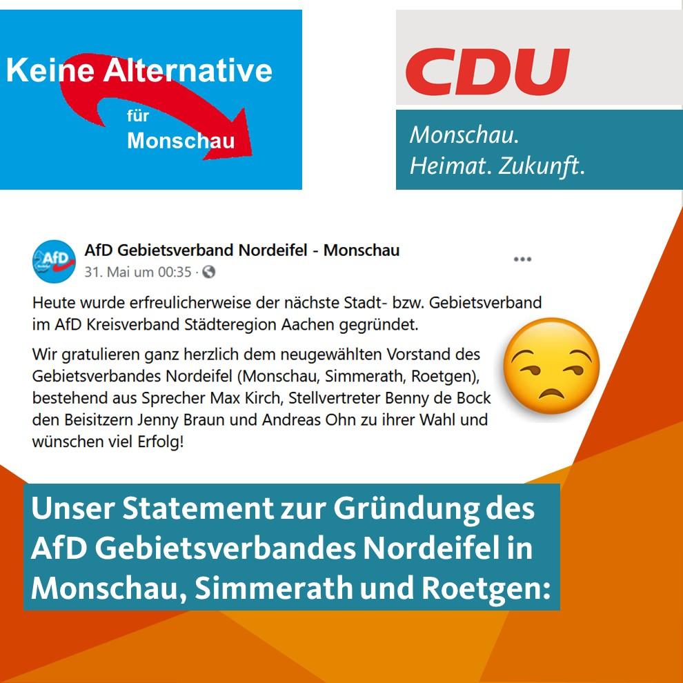 Statement zur AfD in Monschau