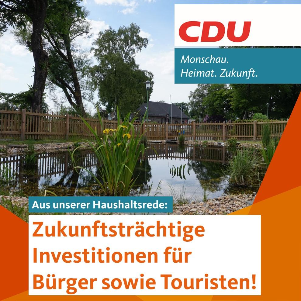 Zukunftsträchtige Investitionen für Bürger sowie Touristen!