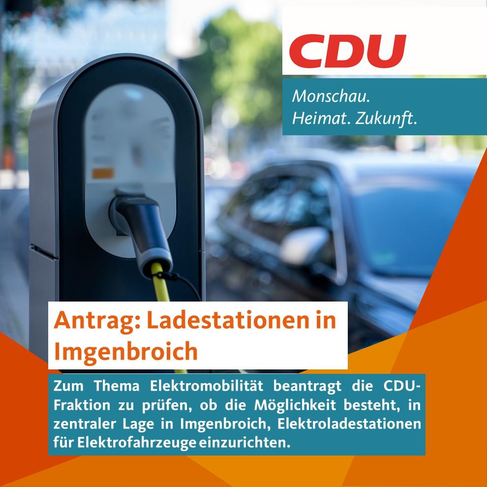 Antrag: Elektroladestationen in Imgenbroich