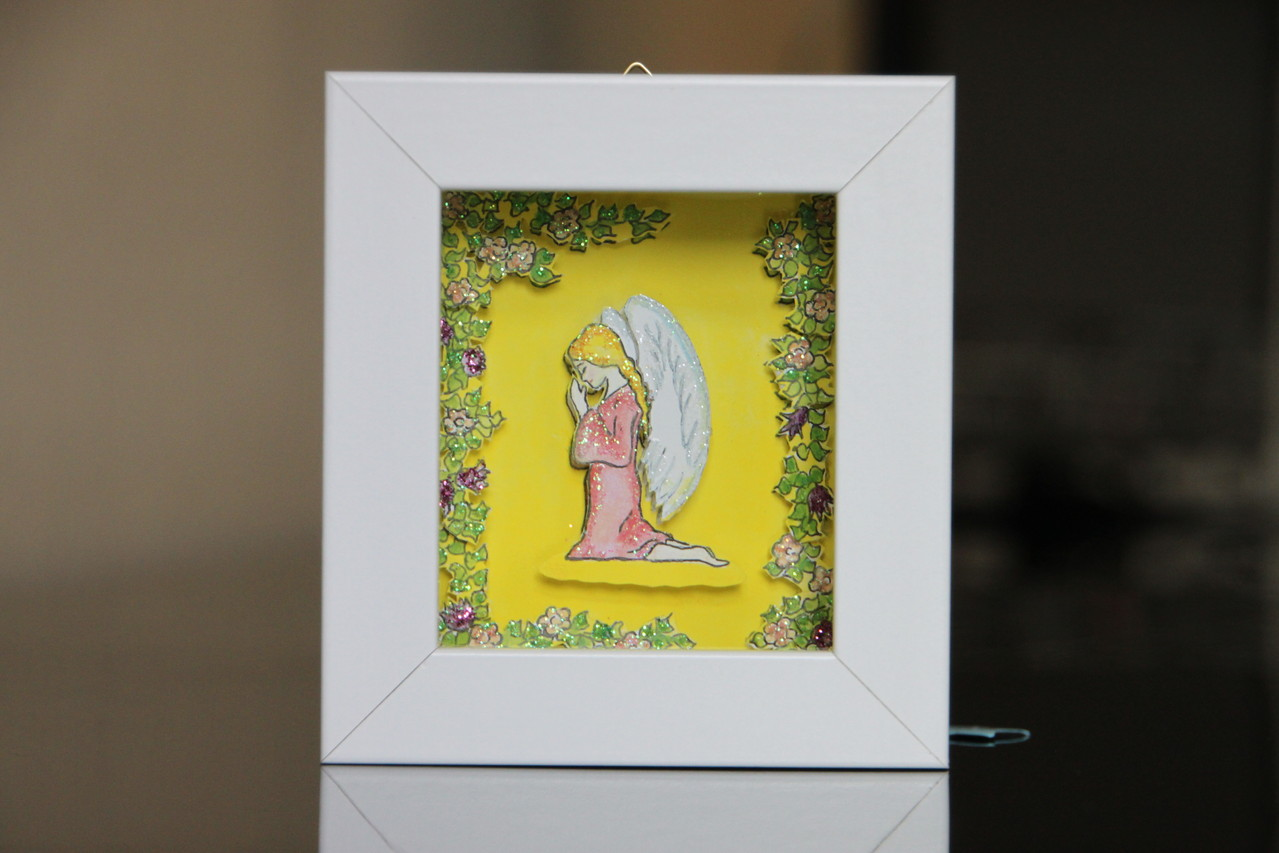 Betender Engel 10x11 cm