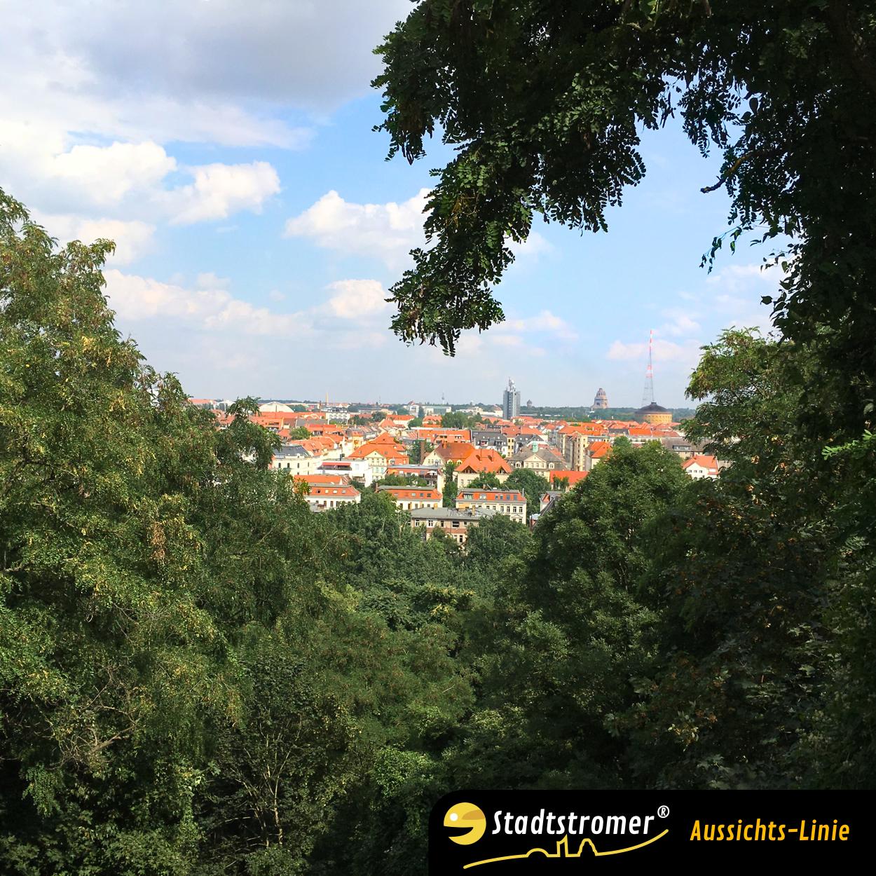 Aussicht Fockeberg Richtung Völkerschlachtdenkmal