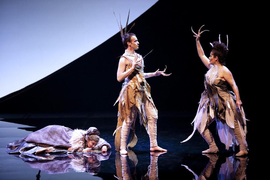 Belle Etoile (Marianne Lambert), l'Oiseau (Scott Belluz) et Tourterelle (Stéphanie Pothier)