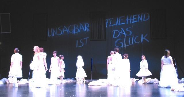 Unsagbar filehend ist das Glueck, Strauss-Collage, Wilhelma Theater, Stuttgart, 2004