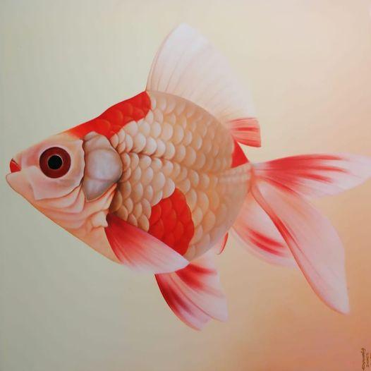 Peter Dessoy, Riesenfisch, Acryl auf Leinwand, 100x100cm 440,-€