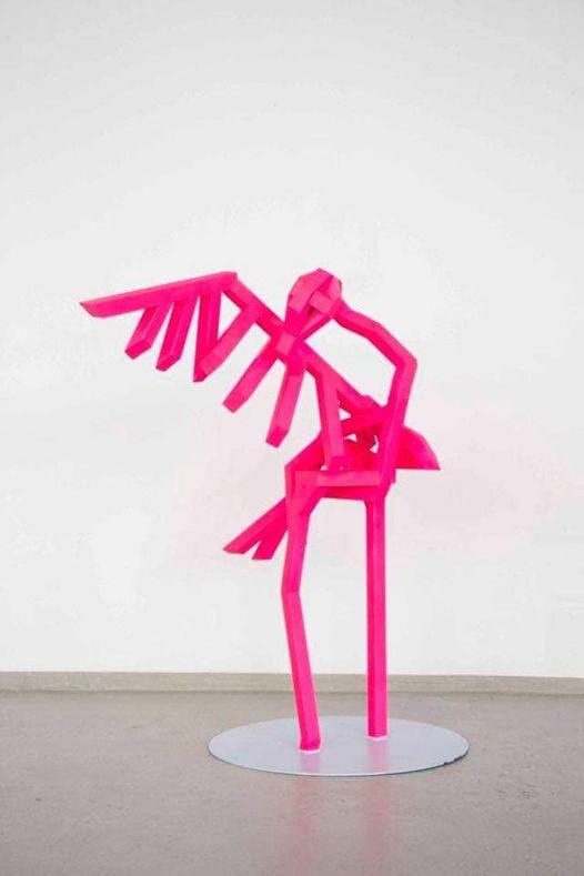 Paul Lässer, Flamingo Metallskulptur 1,50m hoch 4.000,-