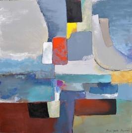 Анн Гаель Арно картина, написанная маслом,90X90cm-Биот -художественная галерея-Лазурном Берегу Франции