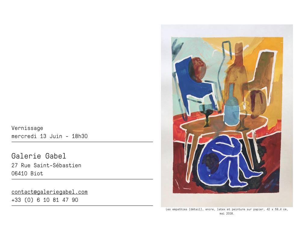 Charlotte Janis- exposition du 13 au 27 juin 2018- Galerie Gabel -galerie d'art côte d'Azur-Biot