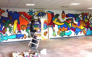 commande d'une fresque de 12m à Pamiers :Nils