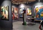 Le stand de la galerie Gabel à Art Up Lille avec Lyle Carbajal , Jacky Coville, Frank Shroeder