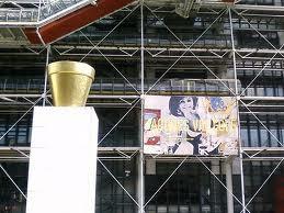 Beaubourg, centre Pompidou-Paris-rétrospective Jacques Villeglé en 2008-