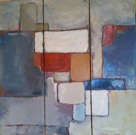 Анн Гаель Арно ,картина, написанная маслом, 90X90cm-Биот -художественная галерея-Лазурном Берегу Франции