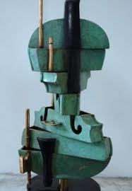 "Arman-""cubic violon"" bronze 34/100ex.contemporary art gallery french riviera-Biot"