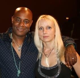 Dorian Holley (Michael Jacksons Backgroundsänger, Vocal coach, Musiker) & mARTina Kainz
