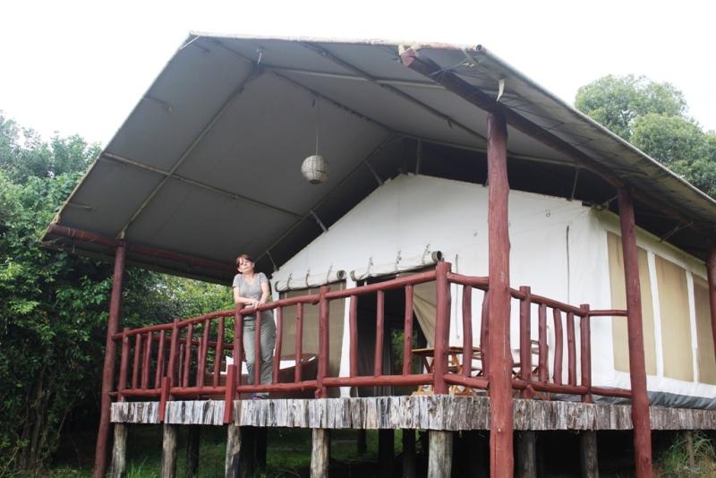 Terrasse mit Blick auf den Mara