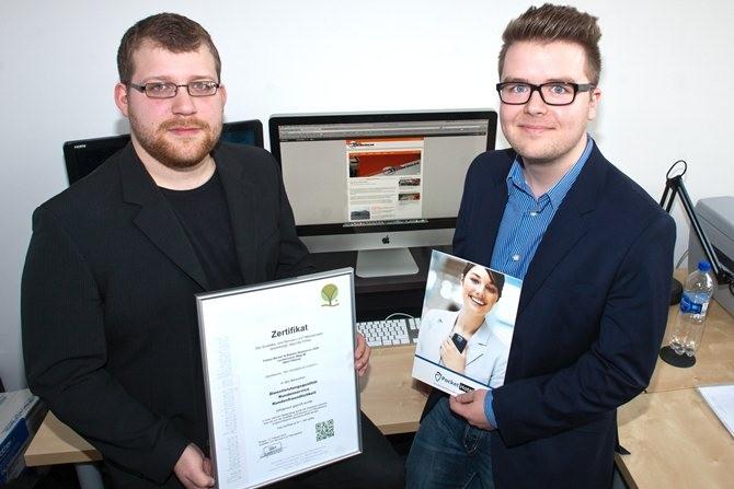 bekalabs Webmedien aus Rheine wurde mit dem Zertifikat der Qualitäts- und Serviceroute Münsterland ausgezeichnet