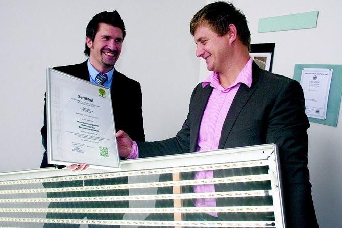 Electropoint aus Rheine wurde mit dem Zertifikat der Qualitäts- und Serviceroute Münsterland ausgezeichnet