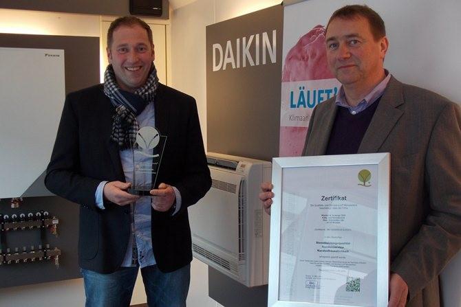 Wienker und Terdenge aus Münster wurde mit dem Zertifikat der Qualitäts- und Serviceroute Münsterland ausgezeichnet