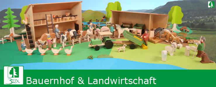 Holzspielzeug Beck - Bauernhof und Landwirtschaft