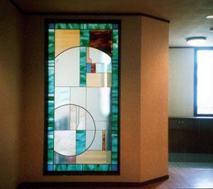幾何学のステンドグラス