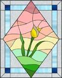 チューリップのステンドグラス・デザイン