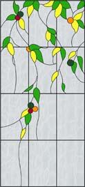 葉(植物)のステンドグラス・デザイン
