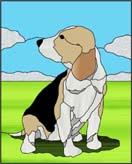 かわいい犬のステンドグラス・デザイン