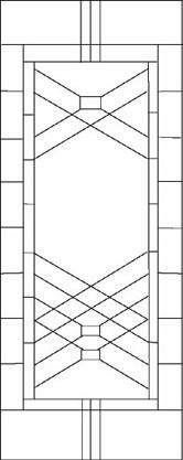 重厚感のあるステンドグラスのデザイン