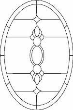 図案からのステンドグラスのデザイン