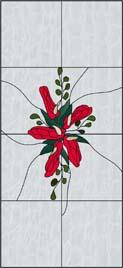 艶やかな花のステンドグラス・デザイン