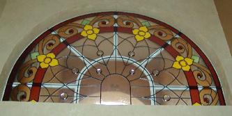 アールデコデザインのステンドグラス