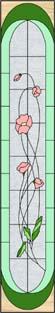 さざんか(花)のステンドグラス・デザイン