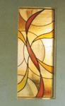 抽象的なデザインのステンドグラス