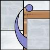 ドアの装飾のためのステンドグラスのデザイン