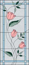 花のステンドグラス・デザイン