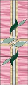 抽象的な葉のステンドグラス・デザイン