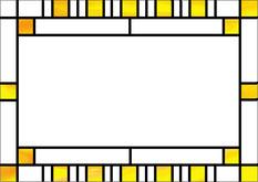 規則正しいパターンを配列した安定感のあるデザイン