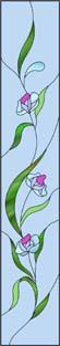 バランスの良い花のステンドグラス・デザイン