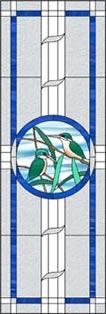 ドレスアップした鳥のステンドグラス・デザイン